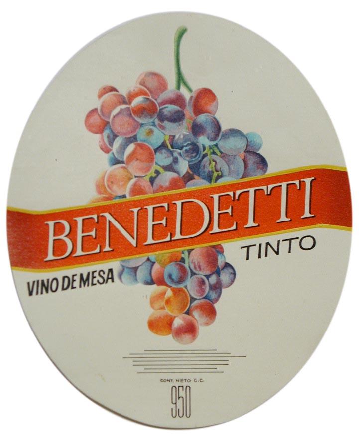 Etiqueta Vino de Mesa BENEDETTI