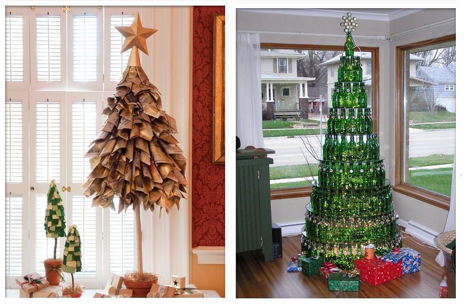 Estudio logos rboles de navidad ecol gicos y creativos - Arboles de navidad creativos ...