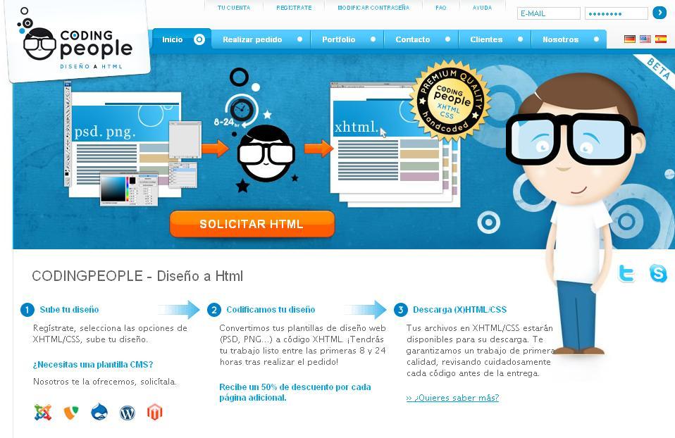 Estudio Logos | Coding People: Servicio online para pasar plantillas ...