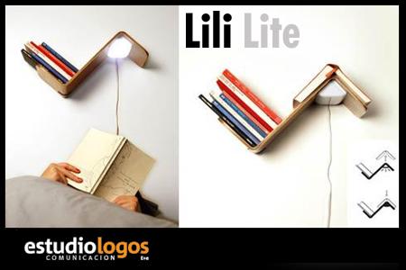 Estudio logos anaquel se alador de libros y l mpara de luz - Lamparas lectura cama ...
