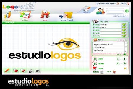 Estudio logos dise ar un logo online for Programa para disenar interiores online