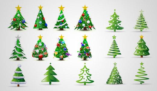 Estudio logos recursos para dise os de navidad y fiestas - Diseno de arboles de navidad ...